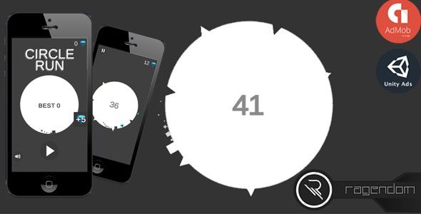 Circle Run - Complete Unity Game + Admob - CodeCanyon Item for Sale