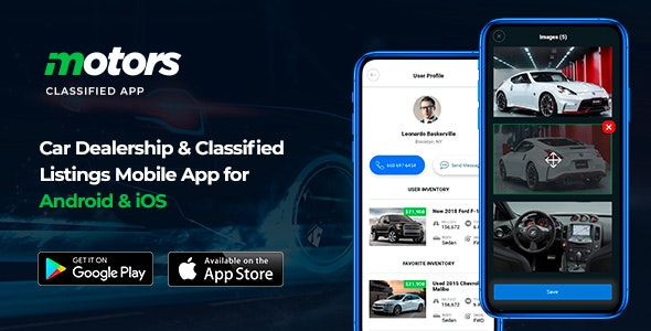 Motors - Car Dealership & Classified Listings Mobile App for Android & iOS - CodeCanyon Item for Sale