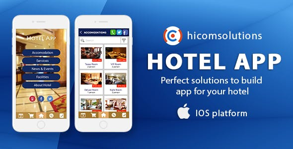 Hotel Mobile App Template - iOS