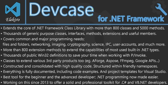 DevCase for  NET Framework by ElektroStudios | CodeCanyon