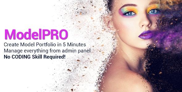 ModelPRO - Fashion and Model Portfolio Management System - CodeCanyon Item for Sale