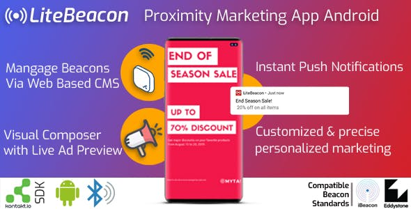 LiteBeacon Proximity Marketing App