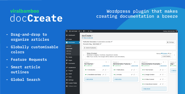 DocCreate - Wordpress documentation creator | WP Knowledge base plugin