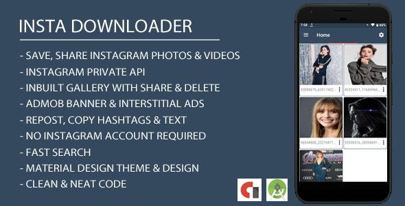 Insta Downloader App with Admob Integration by myandylab