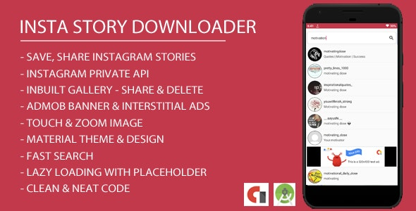 Insta Story Downloader Android App with Admob Integration by