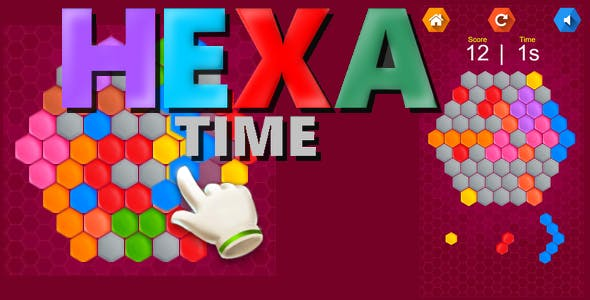 Hexa Time | HTML5 Game + Mobile (capx+cp3)