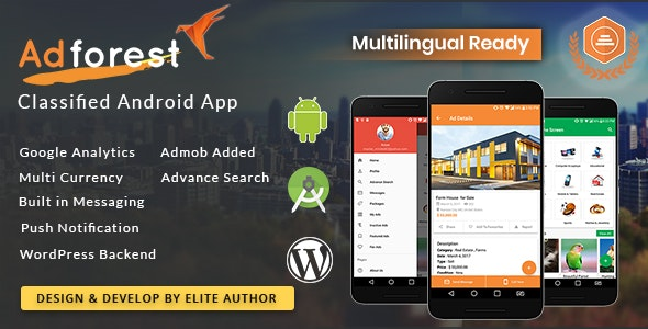 AdForest - Classified Native Android App by scriptsbundle