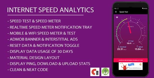 Internet Speed Analytics Android App with Admob Integration