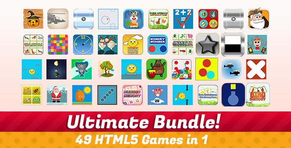Unlimited Bundle - 49 HTML5 Games With Source