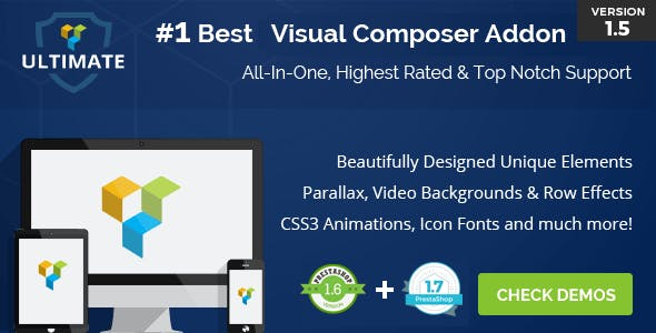 Ultimate Addons for  Prestashop Visual Composer