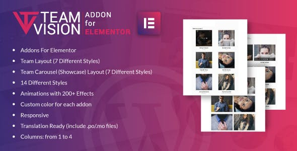 Teamvision for Elementor WordPress Plugin