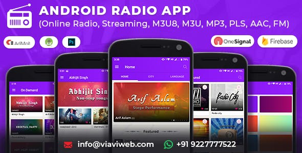 Android Radio App (Online Radio, Streaming, M3U8, M3U, MP3, PLS, AAC, FM)