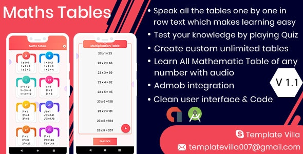 Maths tables memorizer : Maths Game - CodeCanyon Item for Sale