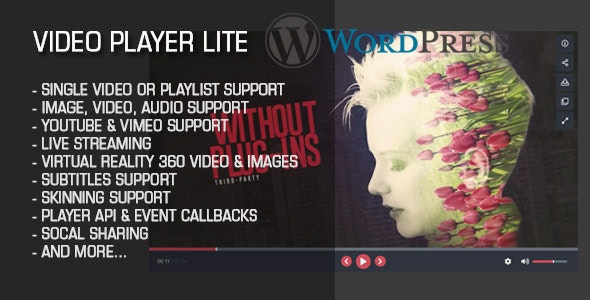 Video Player Lite Wordpress Plugin - CodeCanyon Item for Sale