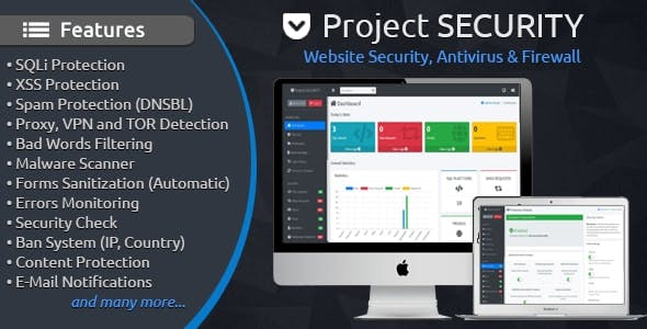 Project SECURITY – Website Security, Antivirus & Firewall