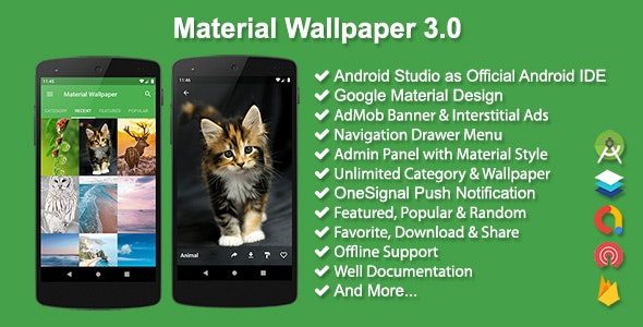 Material Wallpaper by solodroid | CodeCanyon