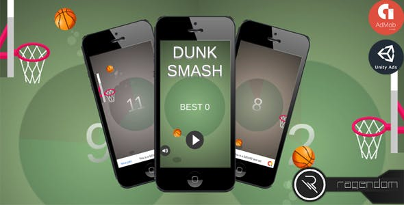 Dunk Smash – Complete Unity Game + Admob