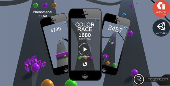 Color Race – Complete Unity Game + Admob