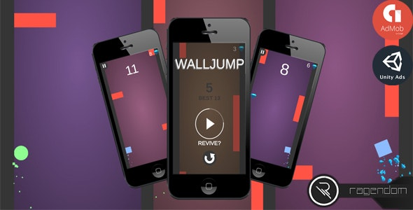 Walljump - Complete Unity Game + Admob - CodeCanyon Item for Sale