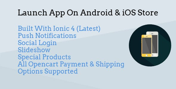 Opencart mobile Android & iOS Apple app builder Ionic 4