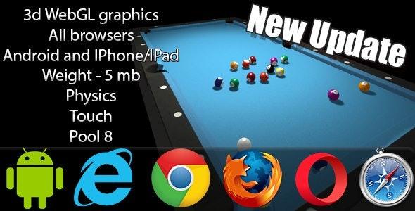 3D WebGL Billiards Pool 8 by WebGLExpert | CodeCanyon