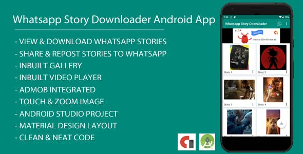 Whatsapp Story Dowloader Android App with Admob Integration