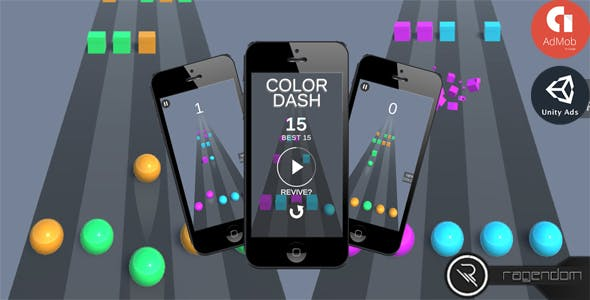 Color Dash – Complete Unity Game + Admob