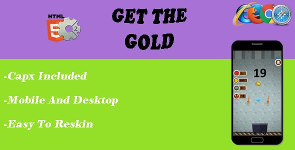 Get The Gold - HTML5 Game - CAPX