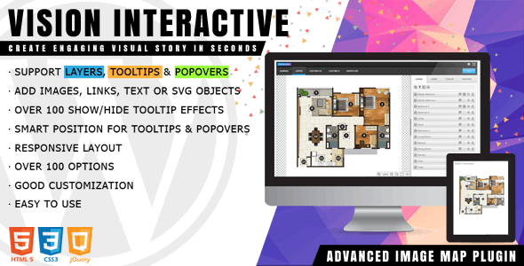 Vision Interactive - Image Map Builder for WordPress by Avirtum