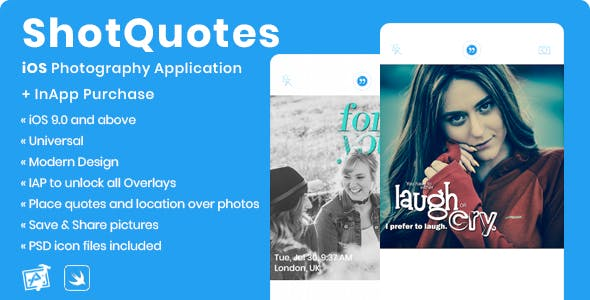 ShotQuotes | iOS Photography Application + In-App Purchase