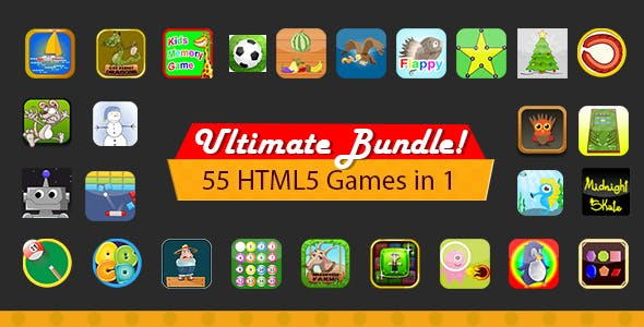 Unlimited Bundle - 55 HTML5 Games With Source