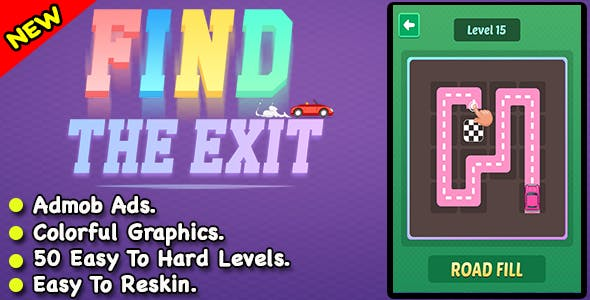 Find The Exit + Best Car Puzzle Game For Android + Ready For Publush