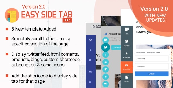 Easy Side Tab Pro - Responsive Floating Tab Plugin For Wordpress by