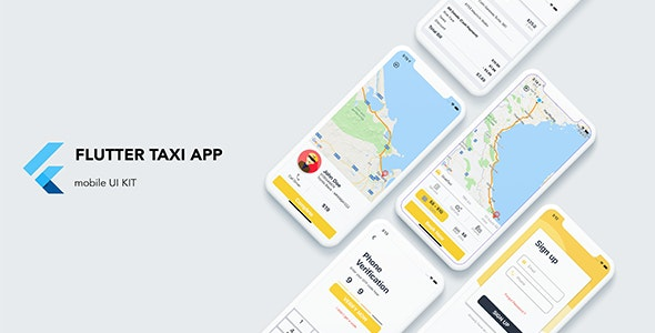 Flutter Taxi App Customer UI KIT by FlutterThemes | CodeCanyon