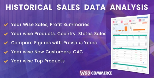 WooCommerce Historical Sales Data Analysis - CodeCanyon Item for Sale