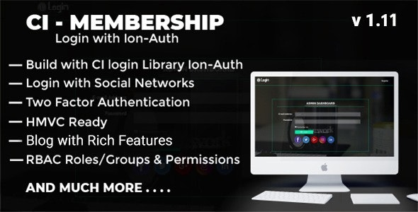 Codeigniter Login with Ion Auth, HMVC, Social Login and User