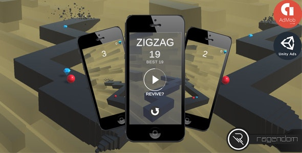 ZigZag - Complete Unity Game + Admob - CodeCanyon Item for Sale
