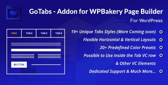 GoTabs - Addon for WPBakery Page Builder (Formerly Visual Composer)