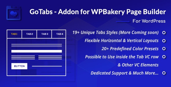 GoTabs - Addon for WPBakery Page Builder (Formerly Visual Composer) - CodeCanyon Item for Sale