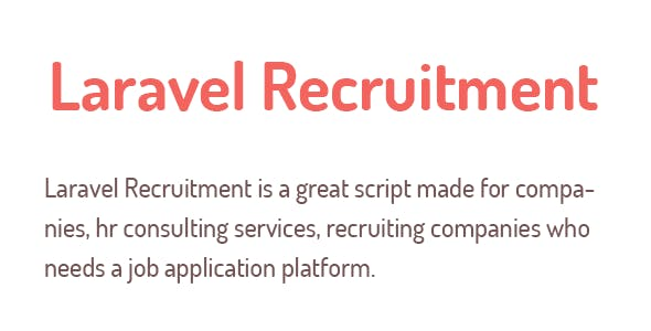 Laravel Recruitment Management System