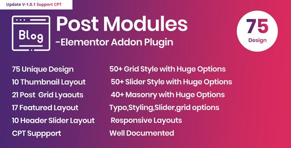Posts Modules - Elementor Addon WordPress Plugin