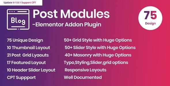 Posts Modules - Elementor Addon WordPress Plugin