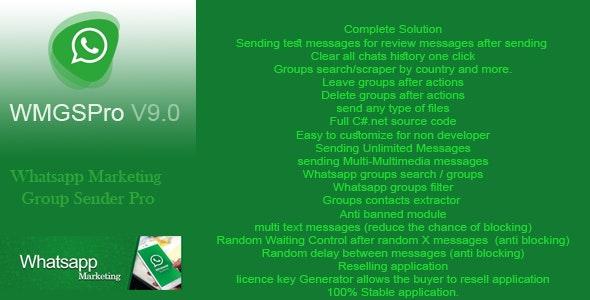 WMGSP: marketing group sender pro - CodeCanyon Item for Sale