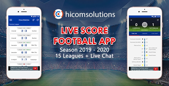 Livescore Football App Template Ios By Hicomsolutions