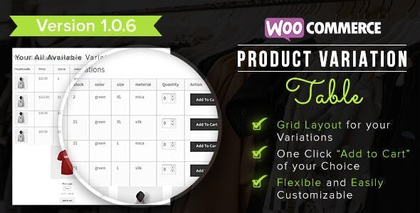 WooCommerce Product Table Plugins, Code & Scripts