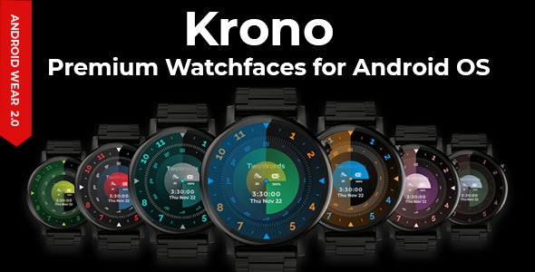 Krono Premium Watchfaces for Android OS by iqonicdesign | CodeCanyon