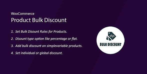 WooCommerce Product Bulk Discount - CodeCanyon Item for Sale