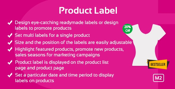 Product Label Magento 2 Extension - CodeCanyon Item for Sale