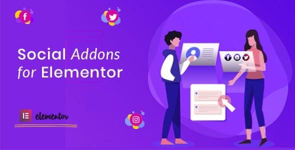 Social Addons for Elementor (Pro)