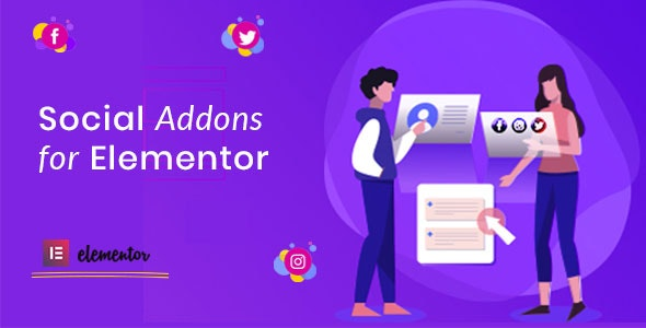 Social Addons for Elementor (Pro) - CodeCanyon Item for Sale